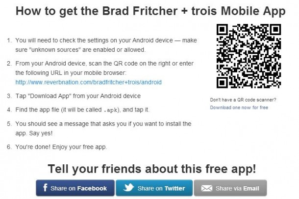 Android users, Get the FREE Brad Fritcher + trois App!